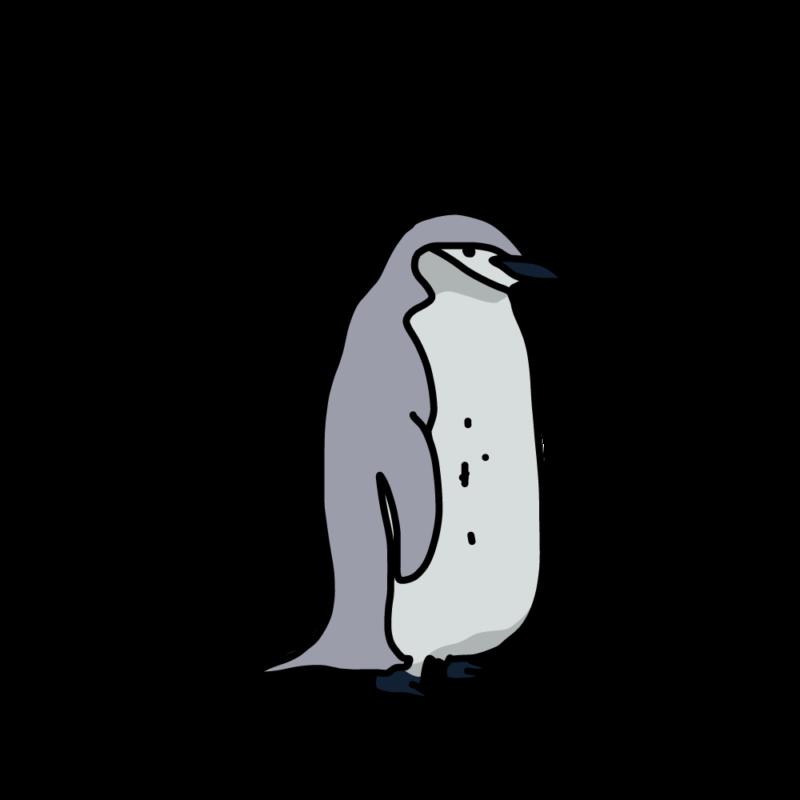 我に返るヒゲペンギングレー