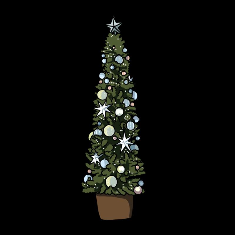 クリスマスツリー(細長)ブルー