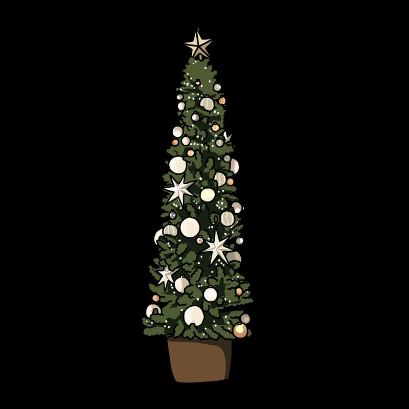 クリスマスツリー(細長)ホワイト