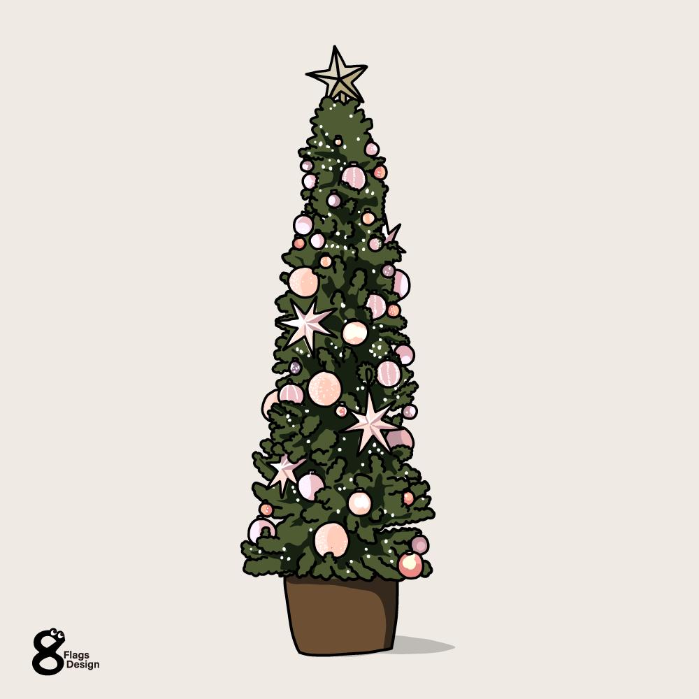 クリスマスツリー(細長)のキャッチ画像