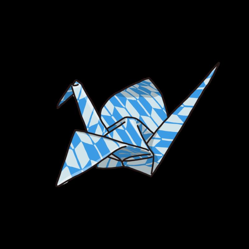 折り紙ブルー