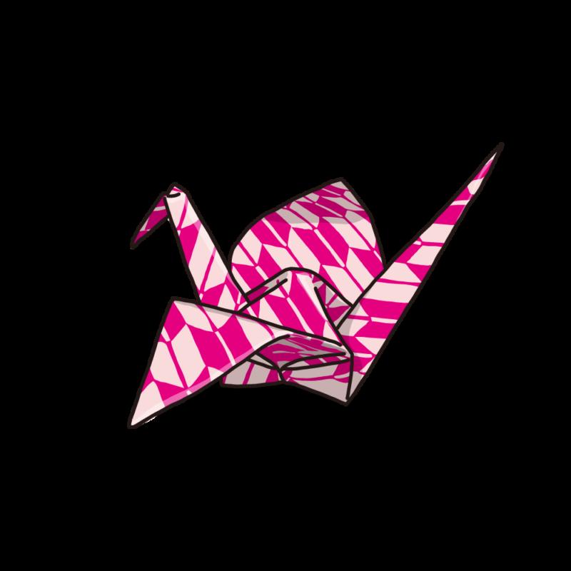 折り紙ピンク