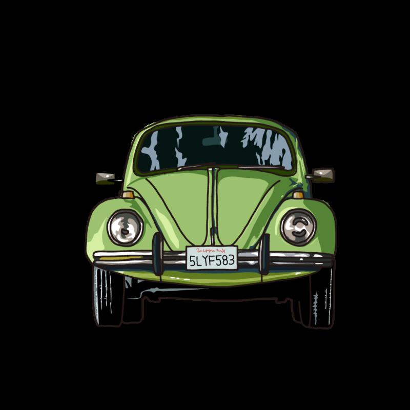 車(正面)グリーン