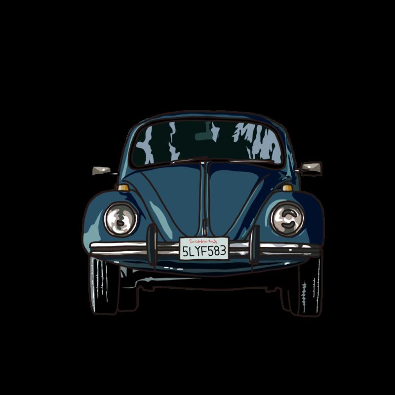 車(正面)ブラック