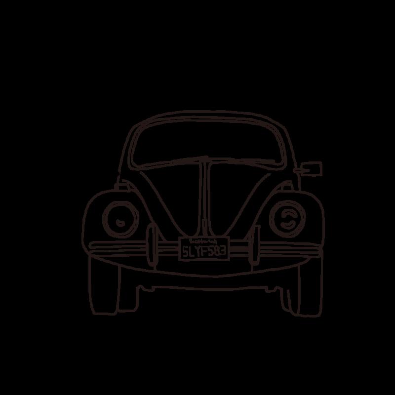 車(正面)ライン