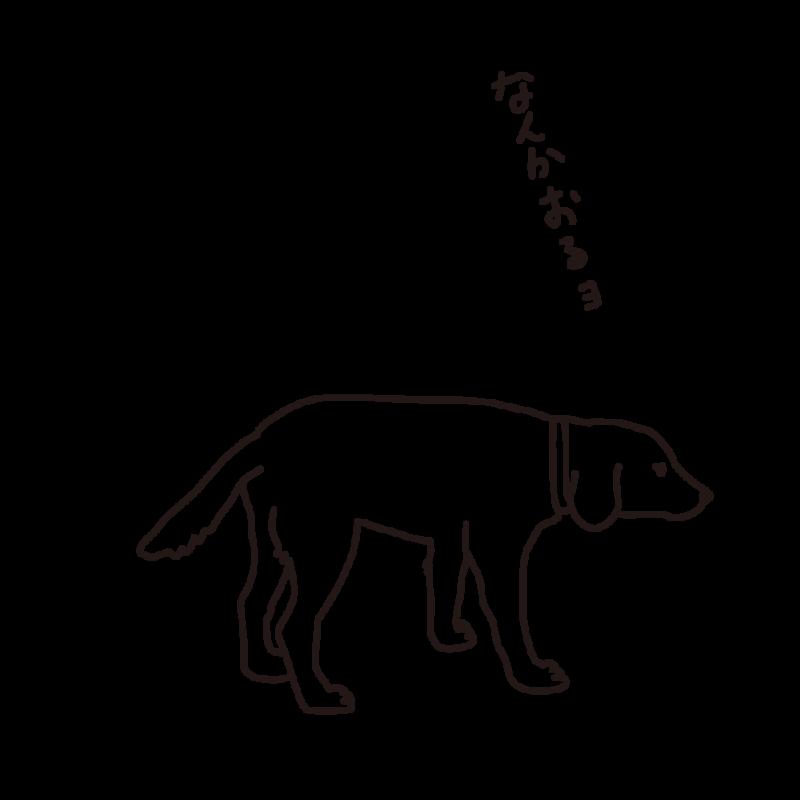 散歩途中の犬ライン