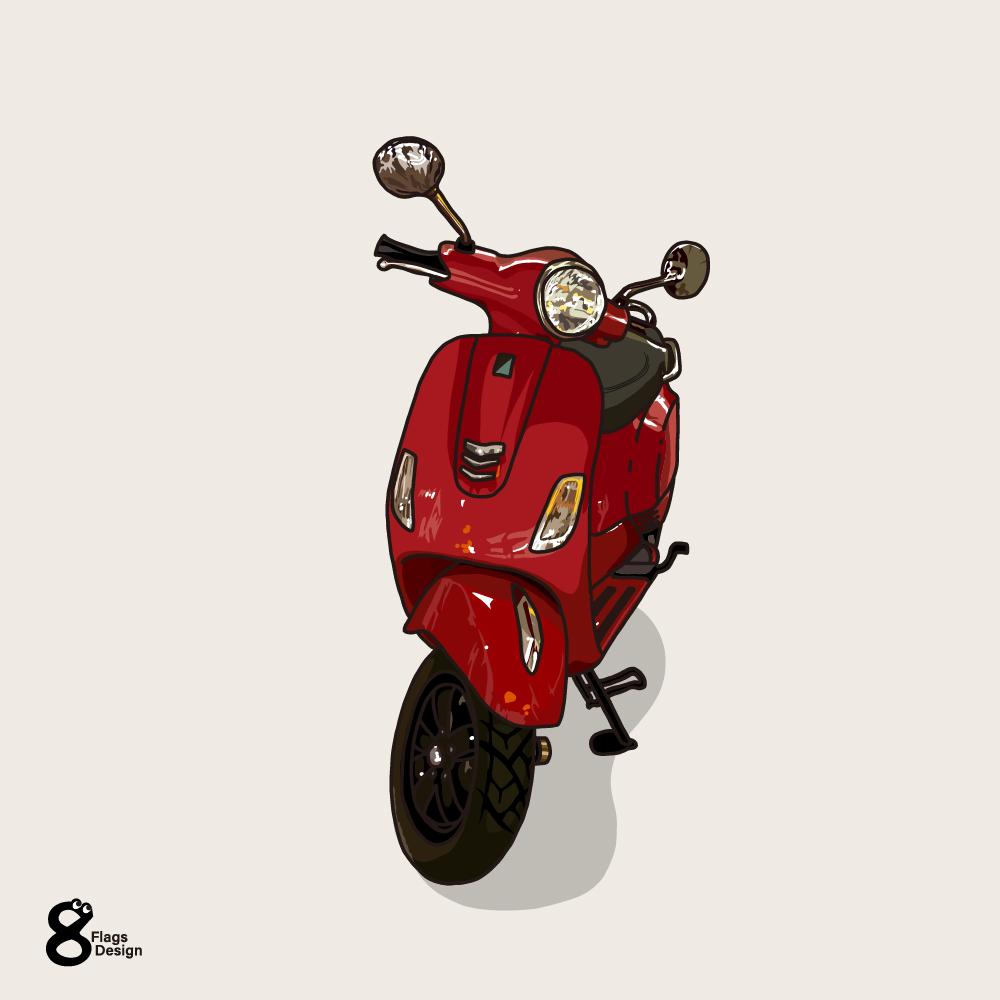 ハノイのスクーターのキャッチ画像