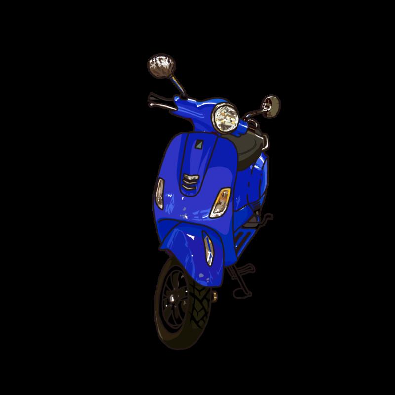 ハノイのスクーターブルー