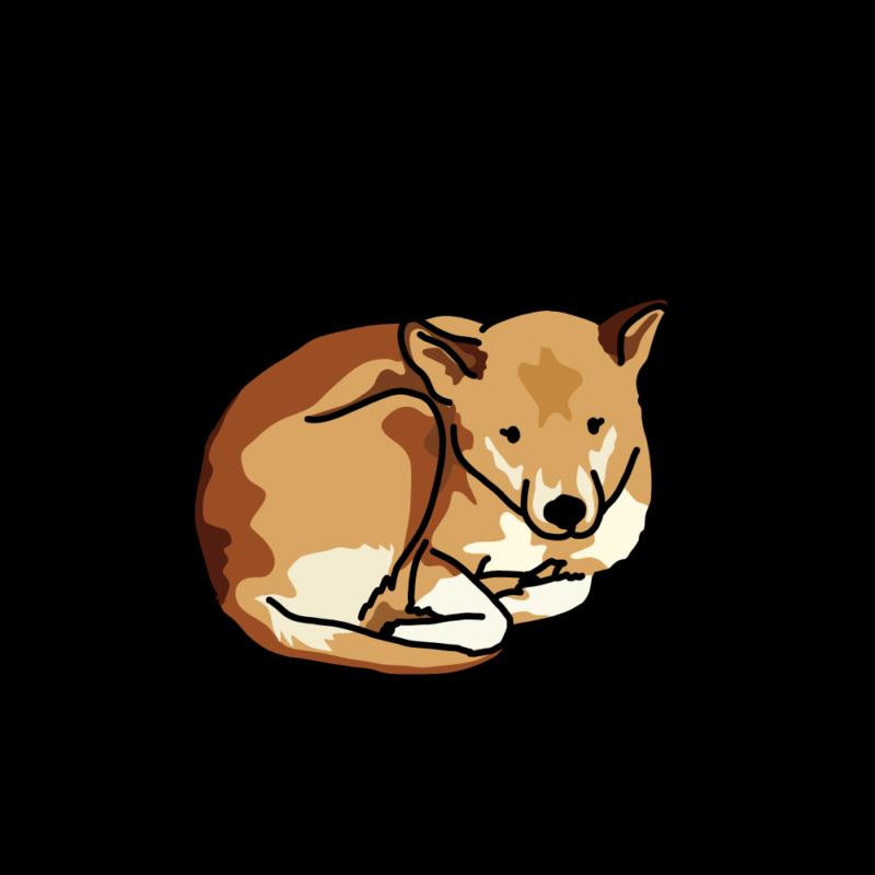 さむさむ犬赤