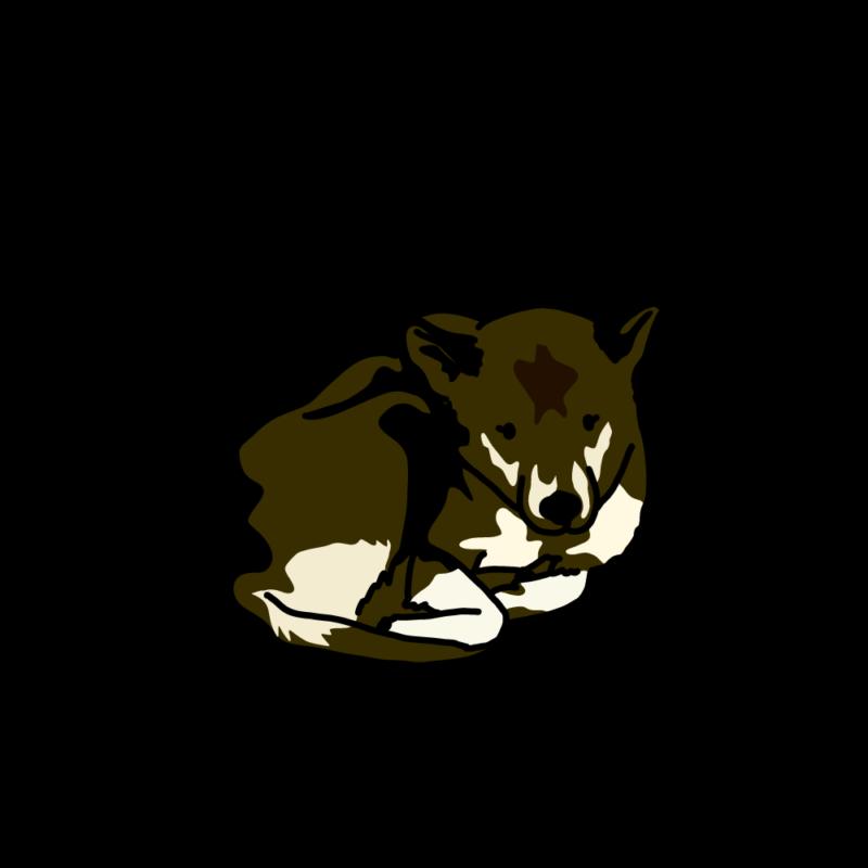 さむさむ犬黒