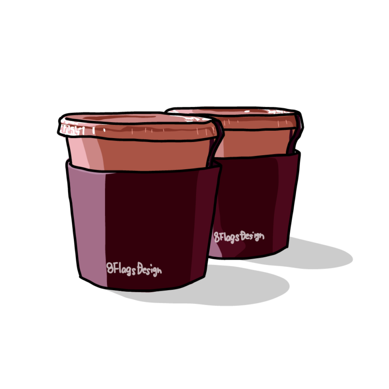 カップアイスラズベリー