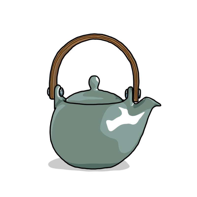 茶瓶ブルー