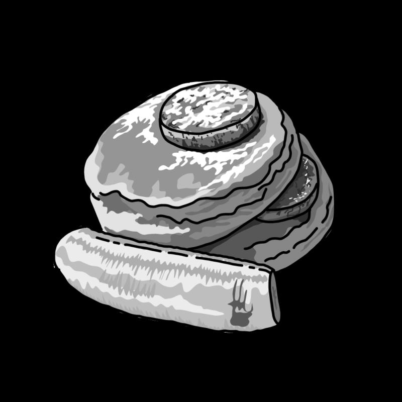パンケーキモノクロ