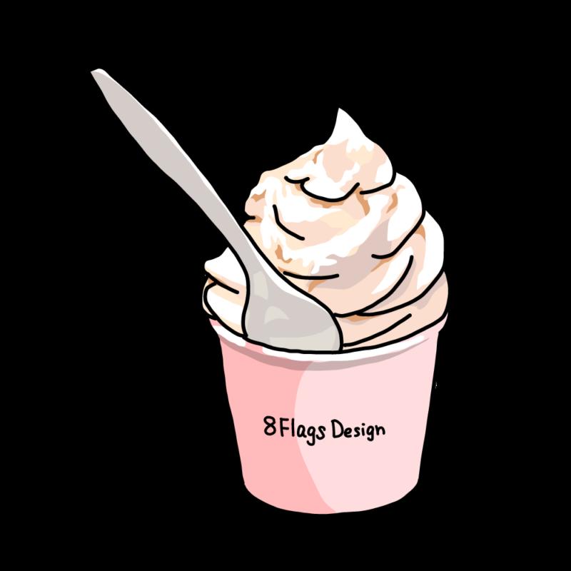 ソフトクリームピンク