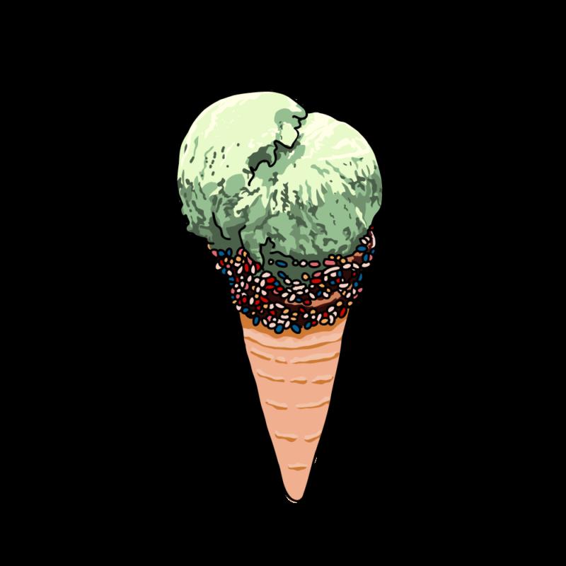 アイスクリームコーンメロン