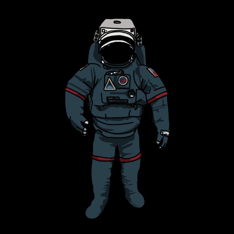 宇宙服かお抜き黒