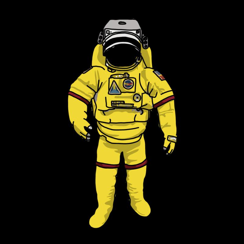 宇宙服かお抜き黄色