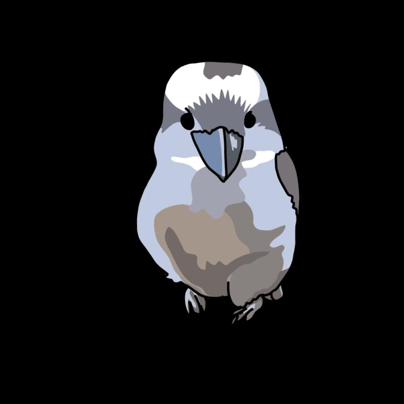 笑う鳥ちゃん(ワライカワセミ)ブルー