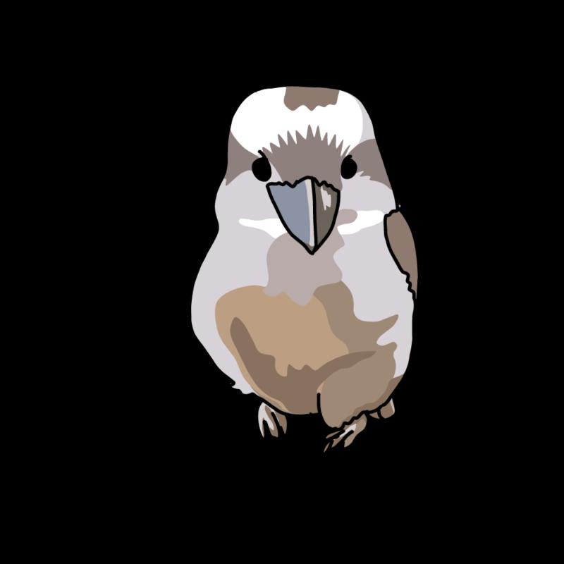 笑う鳥ちゃん(ワライカワセミ)ノーマル