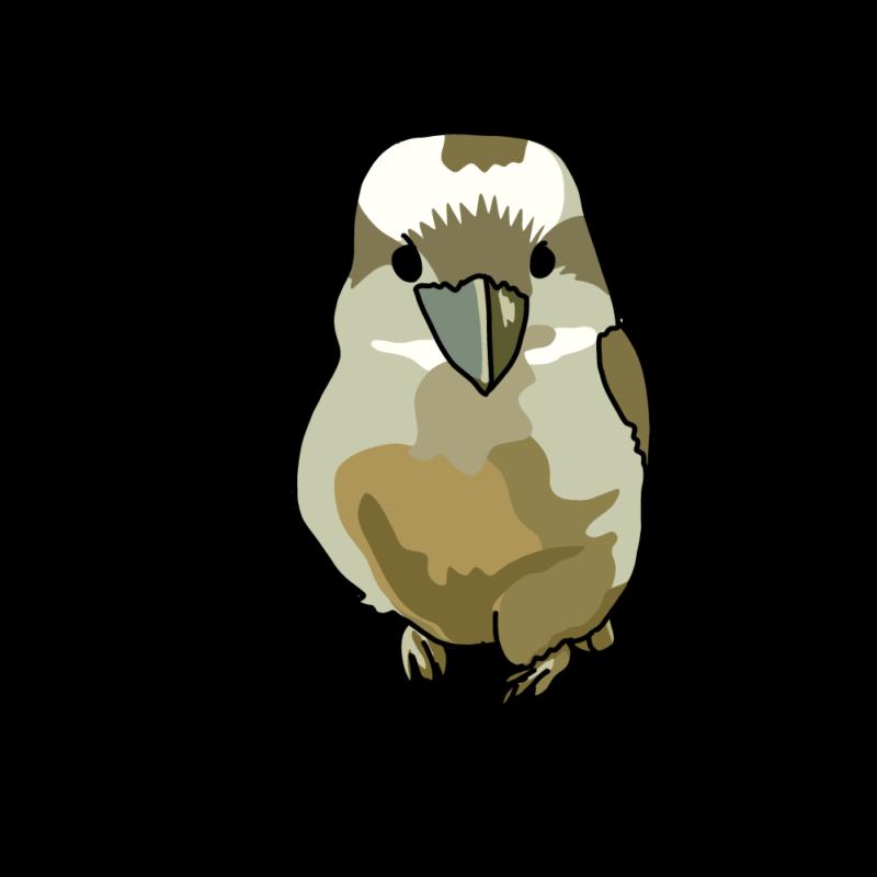 笑う鳥ちゃん(ワライカワセミ)グリーン