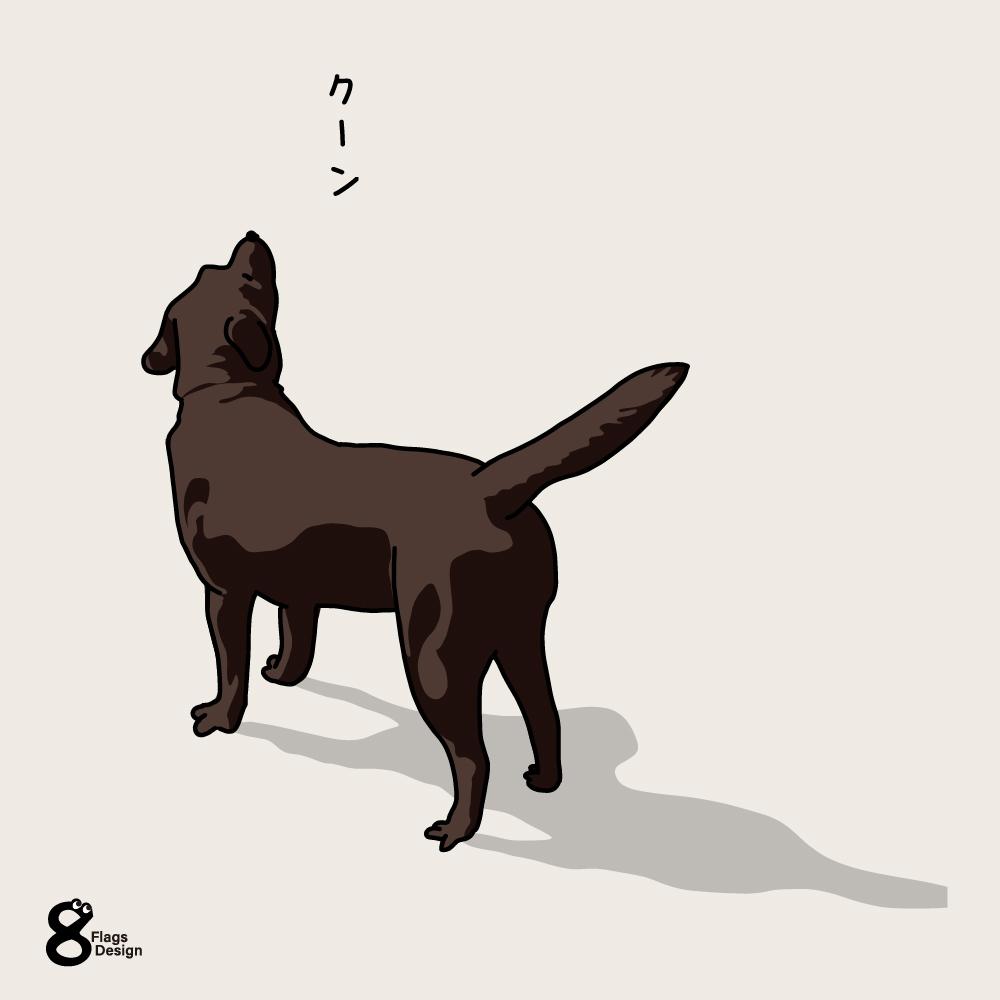 心細くなっている犬のキャッチ画像