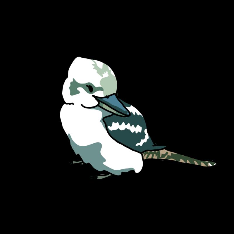 振り向くワライカワセミグリーン