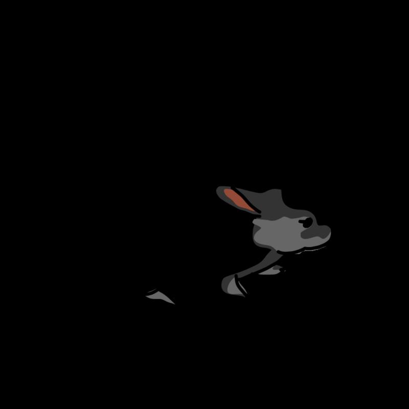んふんふウサギ黒