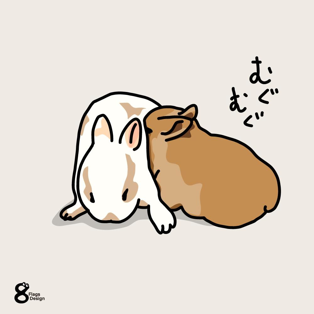 毛皮を楽しむウサギのキャッチ画像