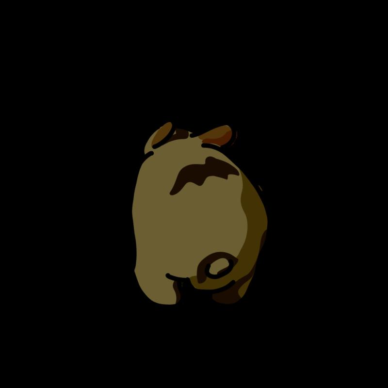 穴を探すウサギ黒