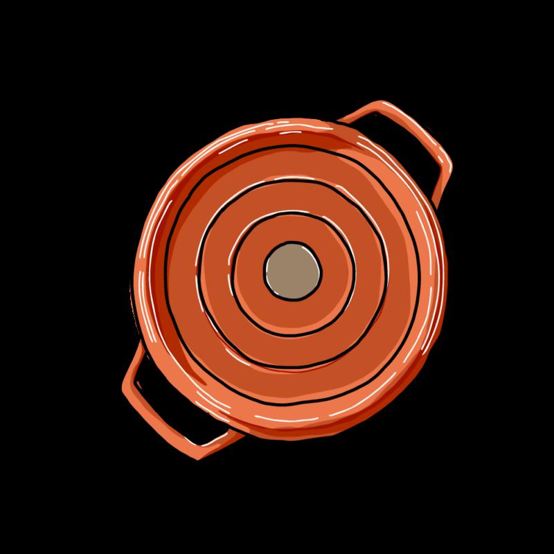 鍋(上から)オレンジ