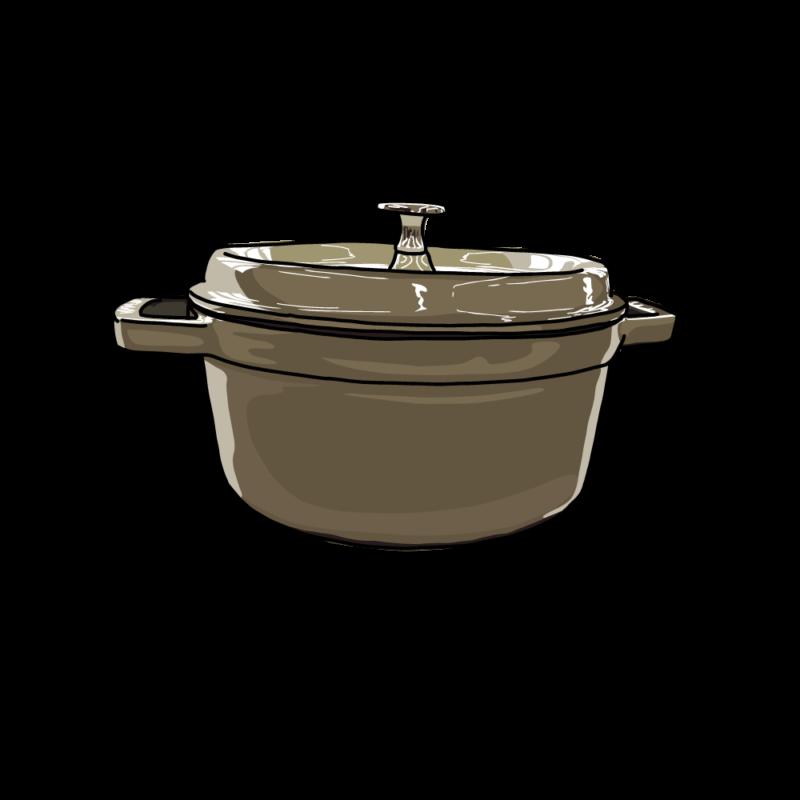 鍋(横から)グレー