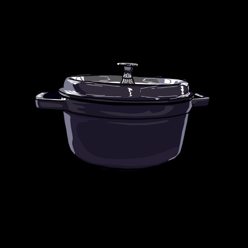 鍋(横から)黒