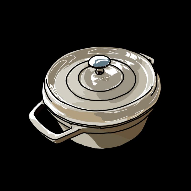 鍋(斜めから)白