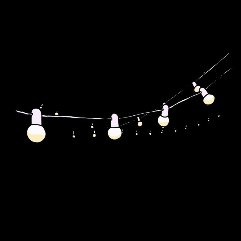 電飾のガートランドホワイト