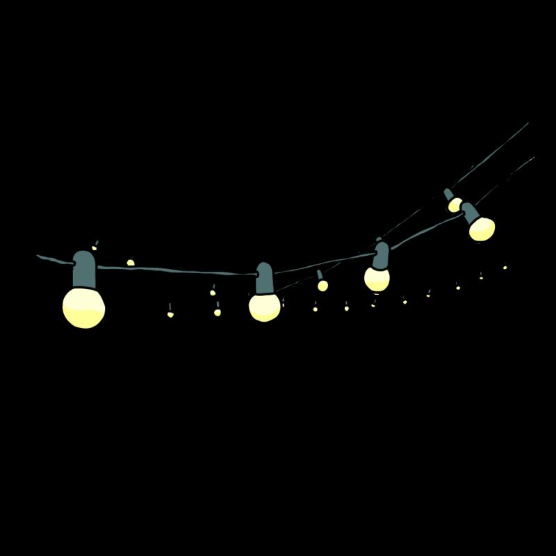 電飾のガートランドブルー