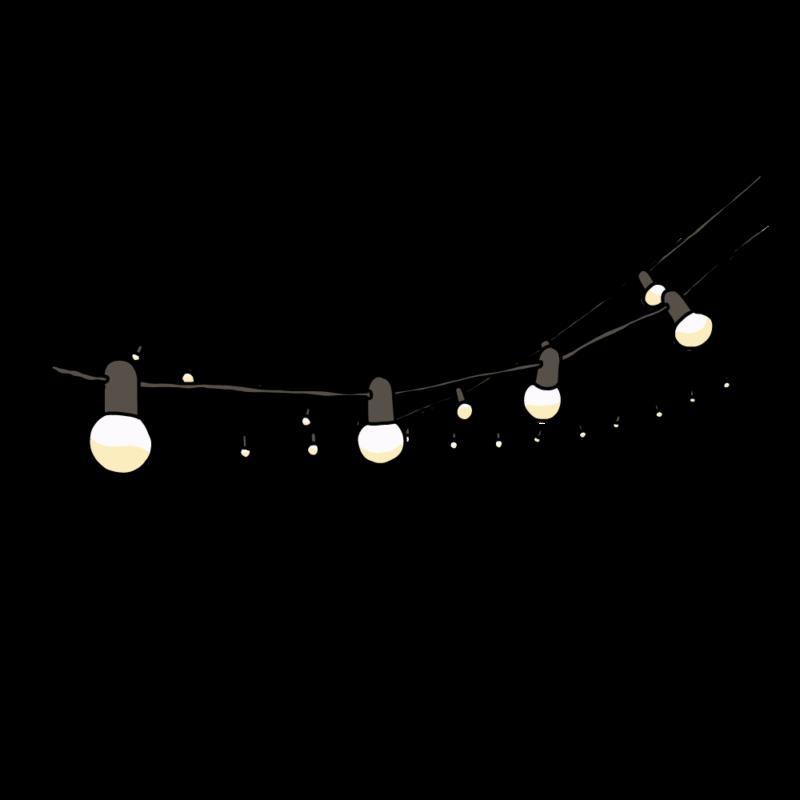 電飾のガートランド黒