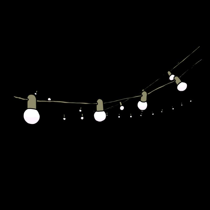 電飾のガートランドグレー