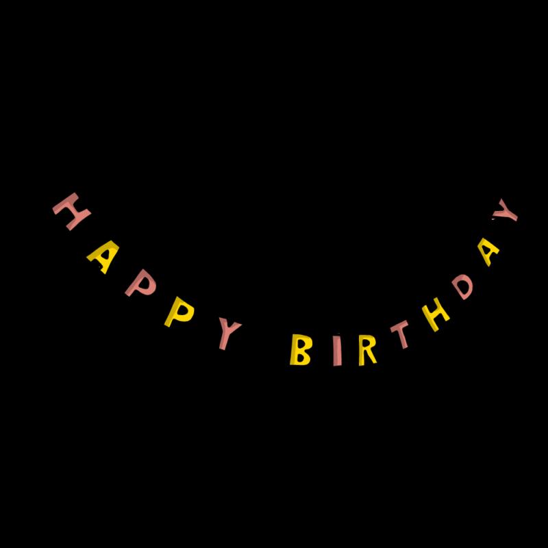 誕生日のガートランドピンク