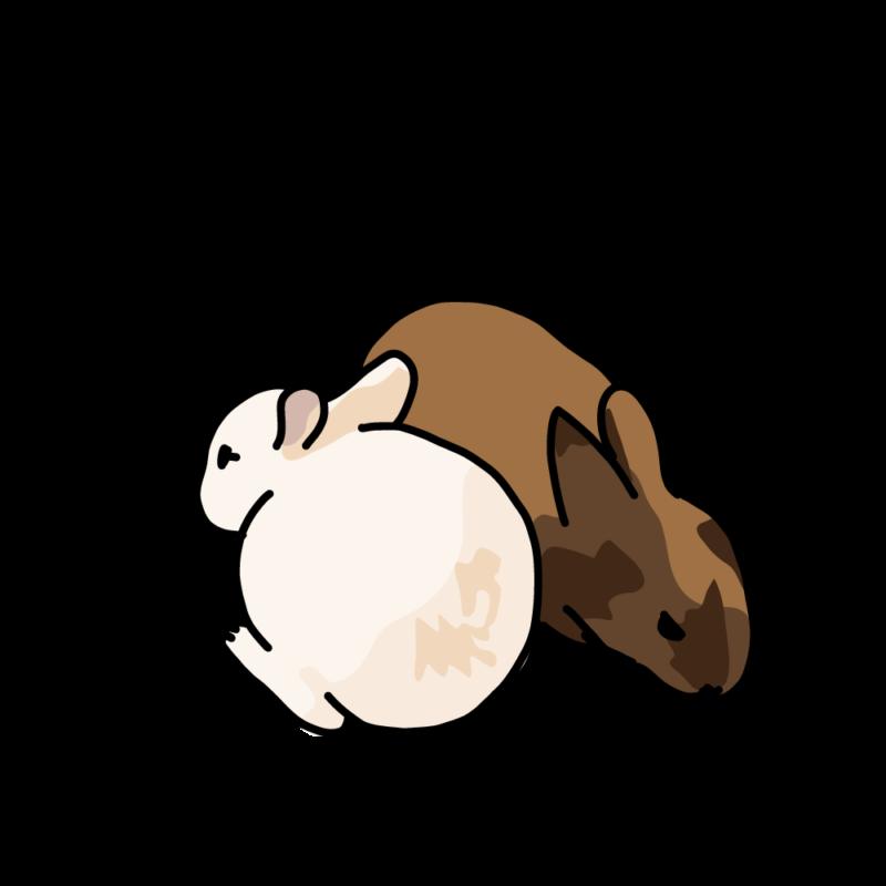 温まるウサギ2きな粉みたらし