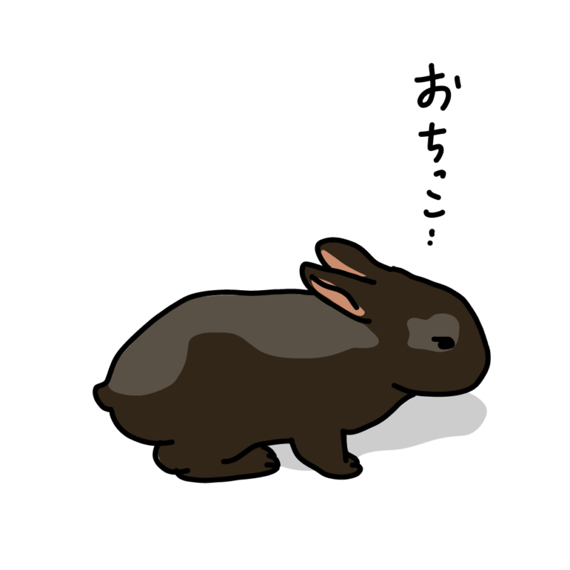 おちっこウサギ黒