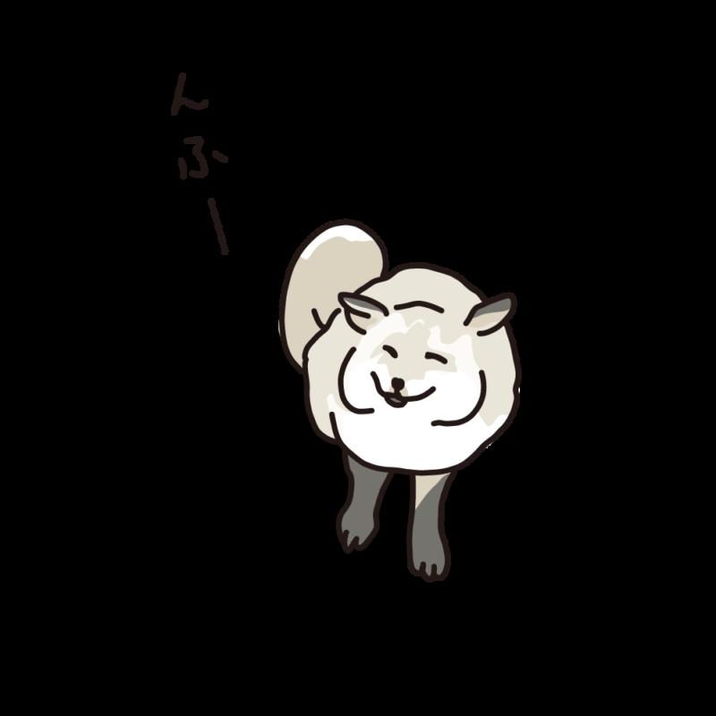 ほほ笑むキツネシルバー