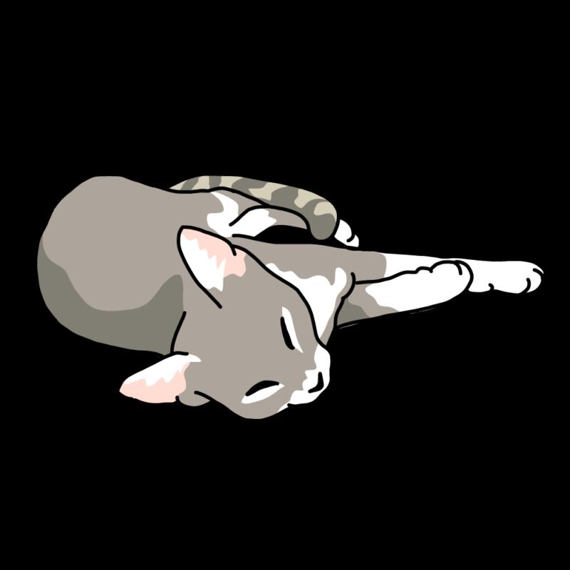 くったりネコちゃんグレー