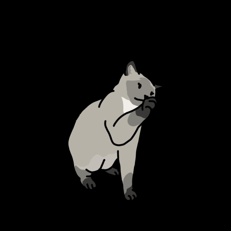 プーだよ(ネコ)グレー