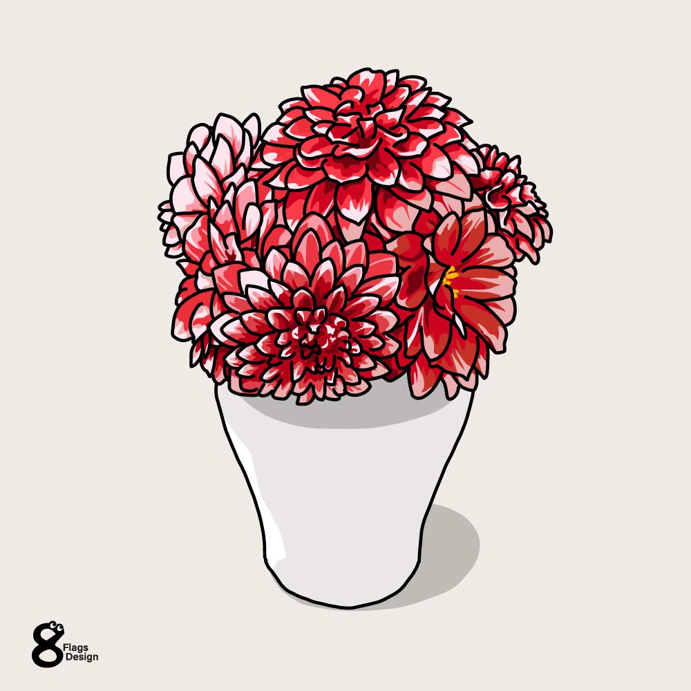 ダリアの花瓶のキャッチ画像