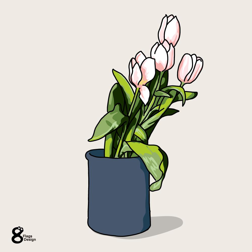 ピンクのチューリップのキャッチ画像