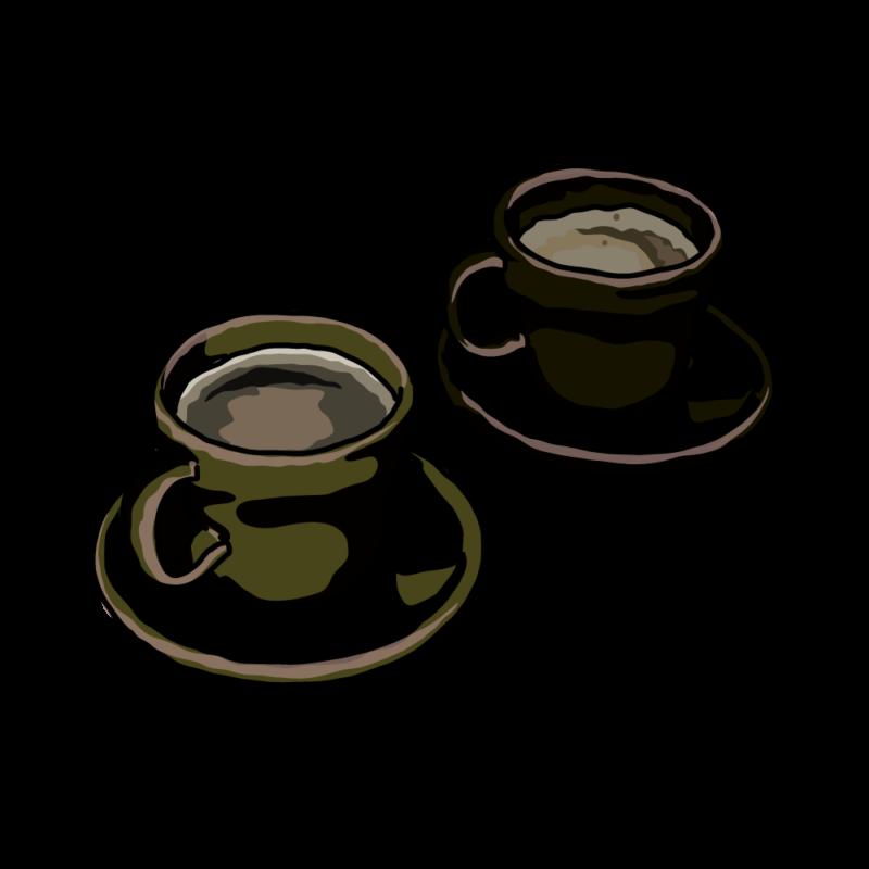 コーヒーと紅茶ブラック