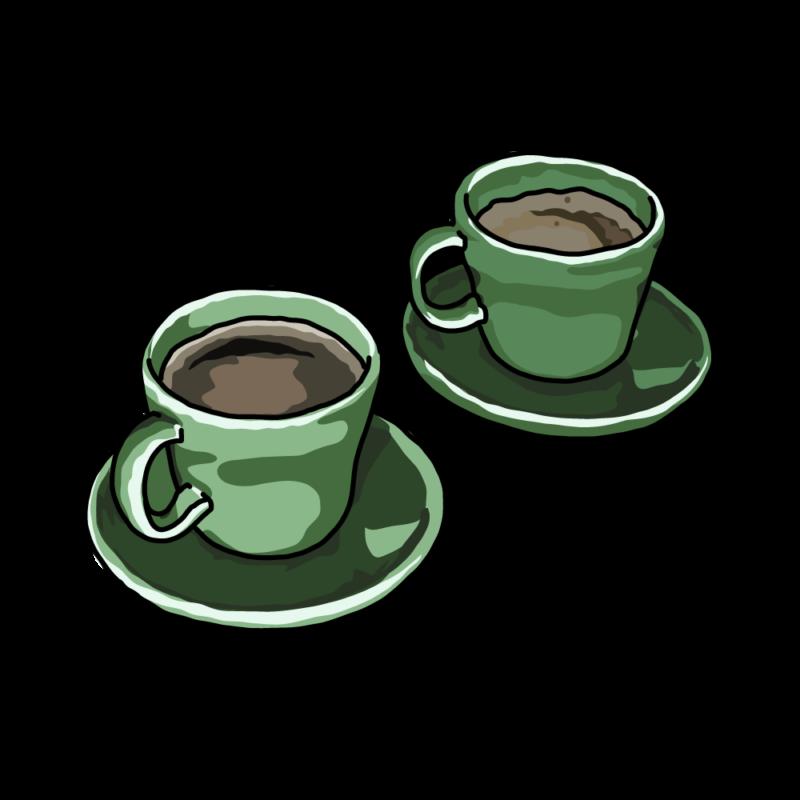 コーヒーと紅茶グリーン