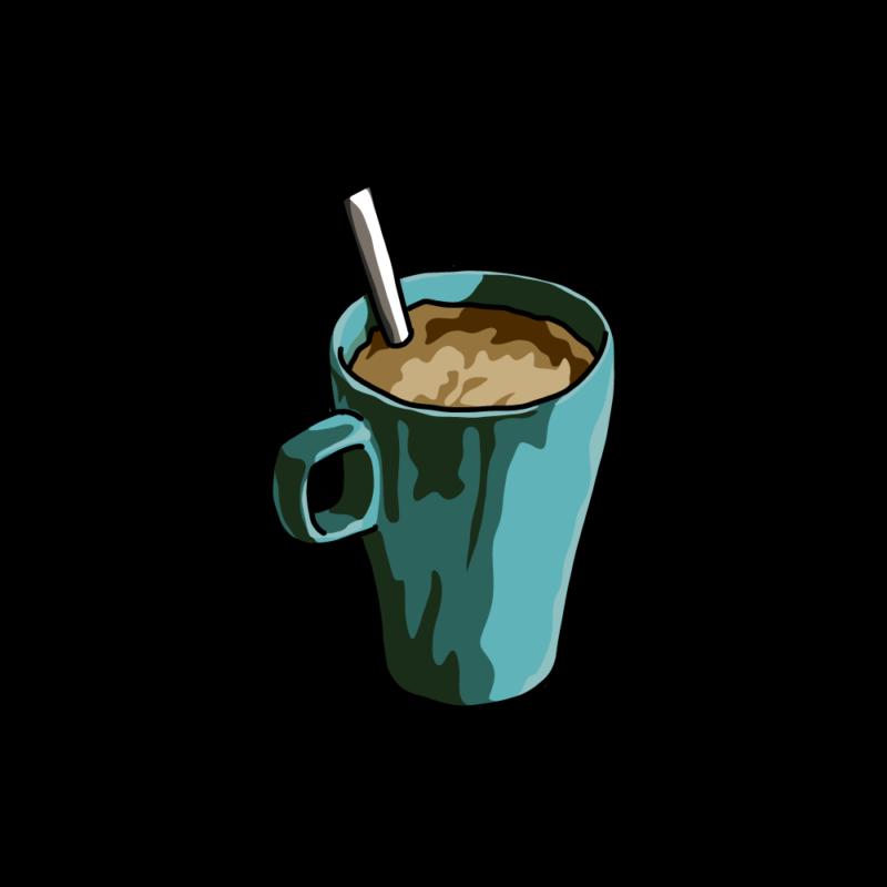 朝のコーヒー青