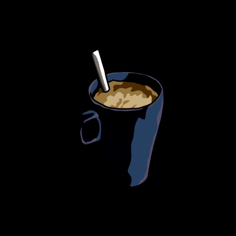 朝のコーヒー黒