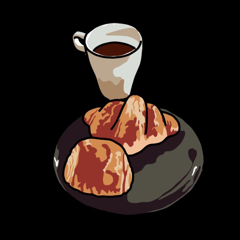 パンとコーヒー黒